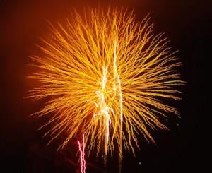 Das Feuerwerk am Hafen