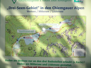Ursprüngliche Größe der Seen laut Karte